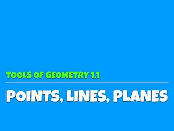 1.1 Points, Lines, Planes