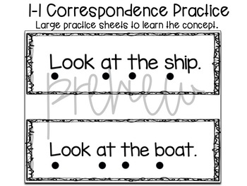 1:1 Tracking/Correspondence for Beginner Readers