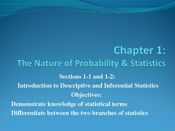 1-1 and 1-2 PowerPoint The Nature of Statistics and Probability