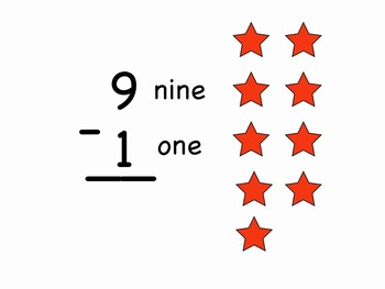 """1-1 to 9-1 Test mp4 from """"Subtraction Songs"""" by Kathy Troxel"""