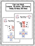 1, 10, 100 More or Less Math Game 2nd/3rd Grade Level