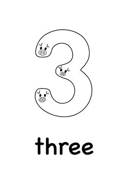 1-10 Animal Numbers Printables: Multilingual Posters, Flash Cards + Coloring Pag
