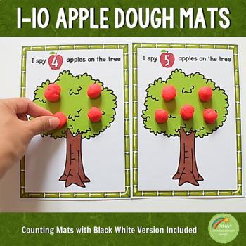 1-10 Apple Counting Dough Mats