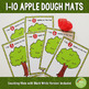 1-10 Apple Counting Dough Mats