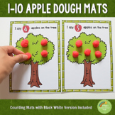1-10 Apple Counting Playdough Mats