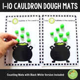 1-10 Cauldron Halloween Counting Playdough Mats