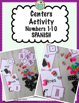 1-10 Centers Activity for SPANISH Class