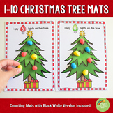 1-10 Christmas Tree Counting Dough Mats