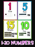 Colorful Numbers with Cardinal Number, Ten Frames, and Tallies