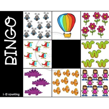 1-10 Counting Bingo