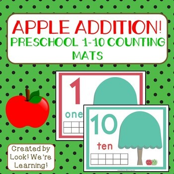 1-10 Counting Mats: Apple Addition!