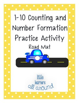 1-10 Counting and Number Formation Tracing Practice Activity