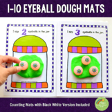 1-10 Eyeballs Halloween Counting Playdough Mats