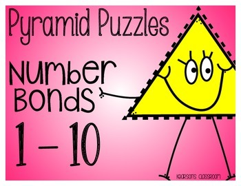 1 - 10 Fact Families and Number Bond Pyramid Puzzles and A