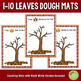 1-10 Fall Leaves Counting Dough Mats