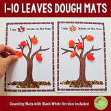 1-10 Fall Leaves Counting Playdough Mats