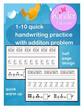 1 - 10 Handwriting Number Practice