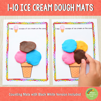 1-10 Ice Cream Playdough Counting Mats
