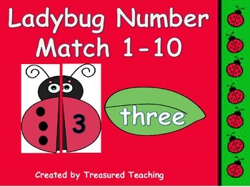 Numbers and Number Words 1-10 Identification Math Station Hands-On Ladybug Fun!