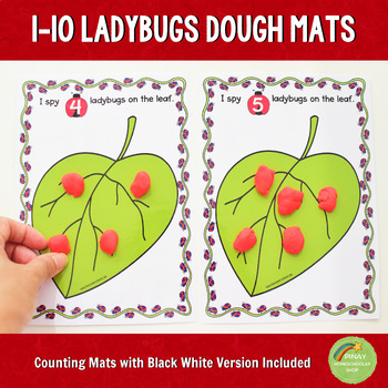 1-10 Ladybugs Counting Playdough Mats