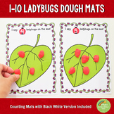 1-10 Ladybugs Counting Playdough Mats