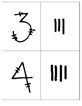 1-10 Matching number with tally marks (1-10)