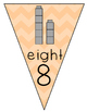 1-10 Math Printable Pendant Banner with Stacking Cubes