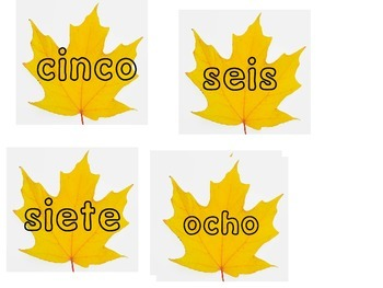 1-10 Memory Game in Spanish and English