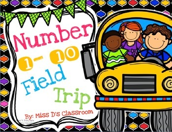 Number 1-10 Field Trip! FREEBIE!
