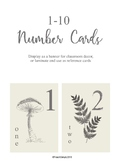 1-10 Number Display Cards