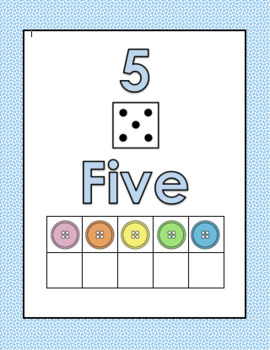 1-10 Number Display Charts with Ten Frames FREEBIE!