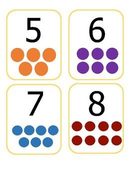 1-10 Number Dot Cards