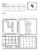 1-10 Number Identification and Counting Activity Sheets