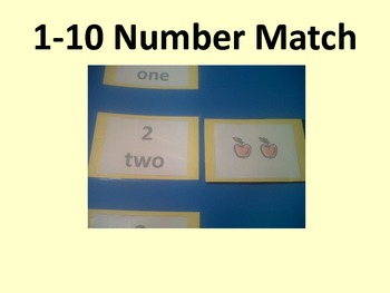 1-10 Number Match and Memory Game with Hearts-Valentine's Day Theme