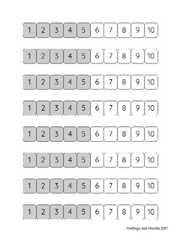 1-10 Number Path -with Gray and White Shading