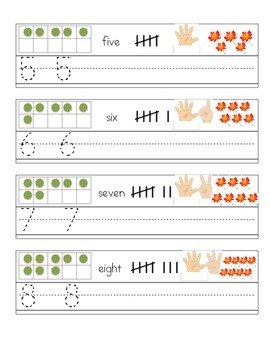 1-10 Number Practice Mats