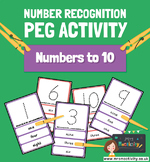 1-10 Number Recognition Peg Activity