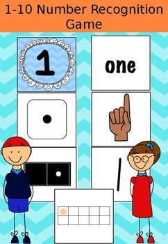 1-10 Number Recognition Puzzles
