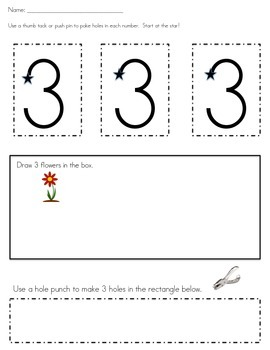1-10 Number Recognition and Fine Motor Practice
