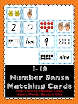 Number Sense Matching Cards #ausbts18