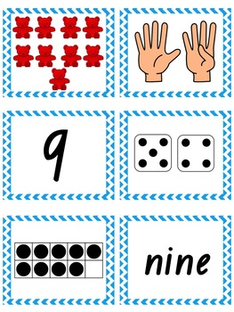 Number Sense Matching Cards