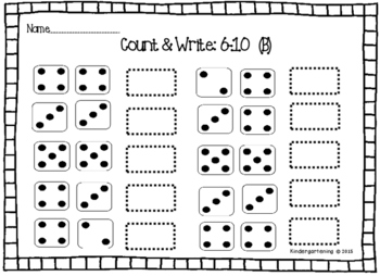 1-10 Number Sense with Ten Frames, Dice, Tallies, Etc.