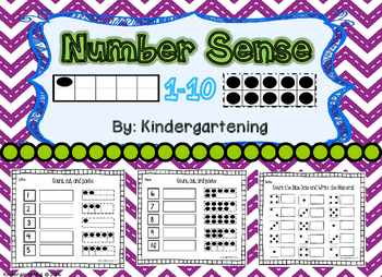 1-10 Number Sense with Ten Frames, Dice, Tallies, Etc.