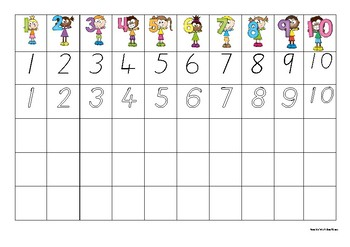 1-10 Number Tracing