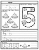 1-10 Number Tracing Activity Sheets: Space Themed