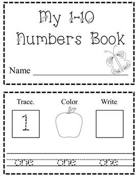 1-10 Numbers Book