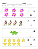 1-10 One to One Counting Worksheet