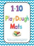 1 - 10 Play dough mats
