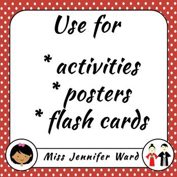 1-10 Posters in Japanese (Blackline)