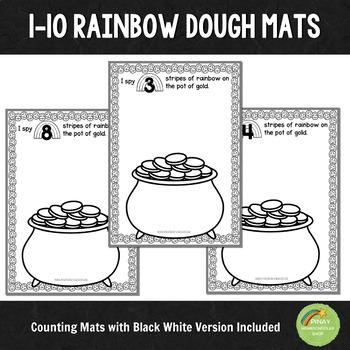 1-10 Rainbow Stripe Counting Mats
